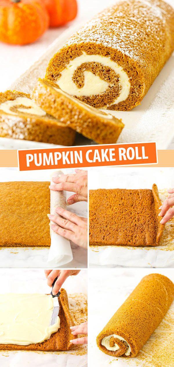 Easy and Amazingly Delicious Pumpkin Roll Cake Recipe!