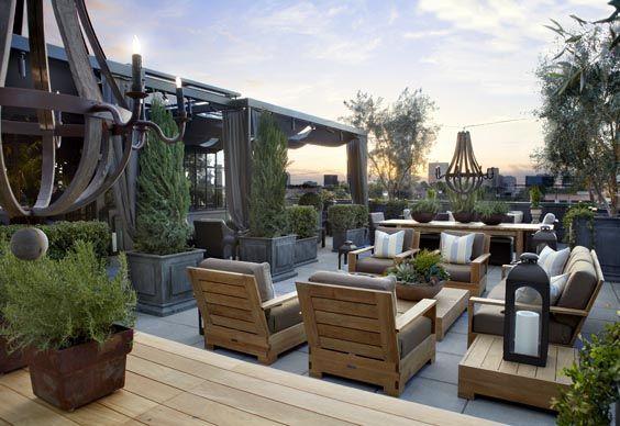 Roof Garden Restaurant Design