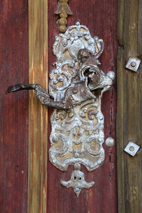 Free Image on Pixabay - Door Handle, Old, Church, Dinosaur | Door ...