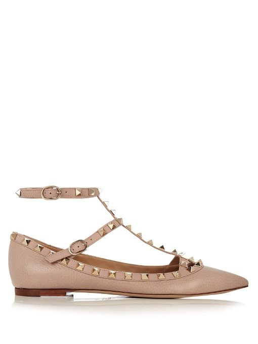 Occasion - Leather ballet flatsValentino