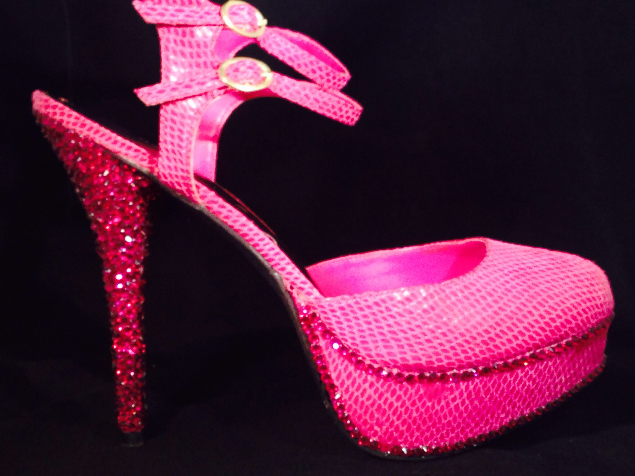 Pink Bling Heels