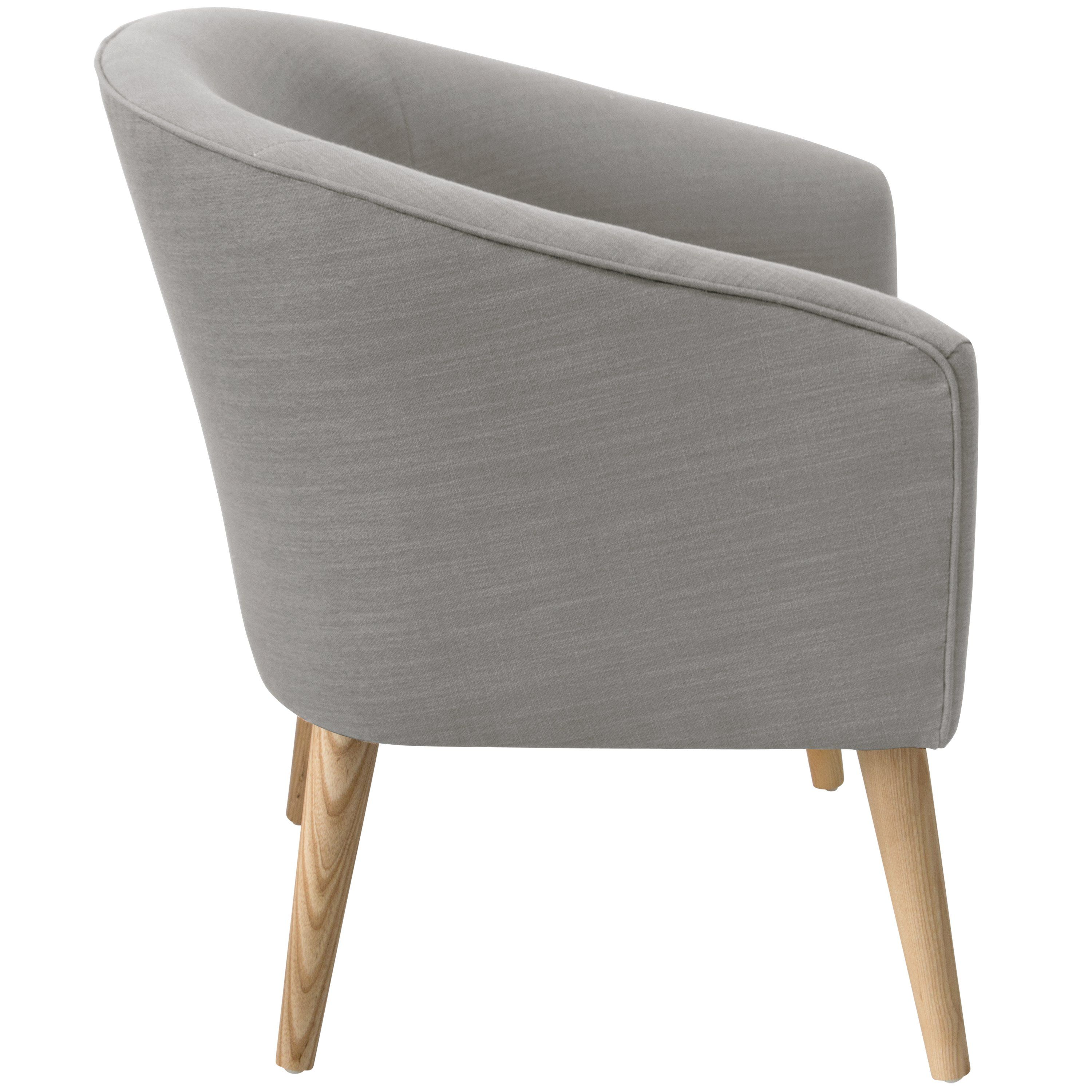 Modern Linen Gray Deco Accent Chair In 2020 Accent Chairs Chair