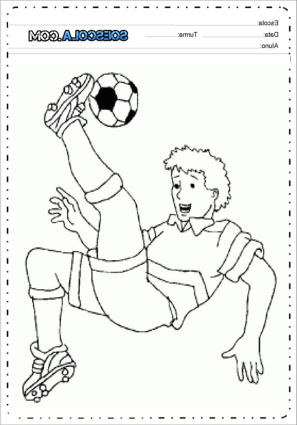 Desenhos De Futebol Para Colorir Imprimir E Pintar Character
