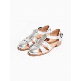 a8dfe95fdee221 T-Bar sandal silver   Womens footwear   Vanishing Elephant