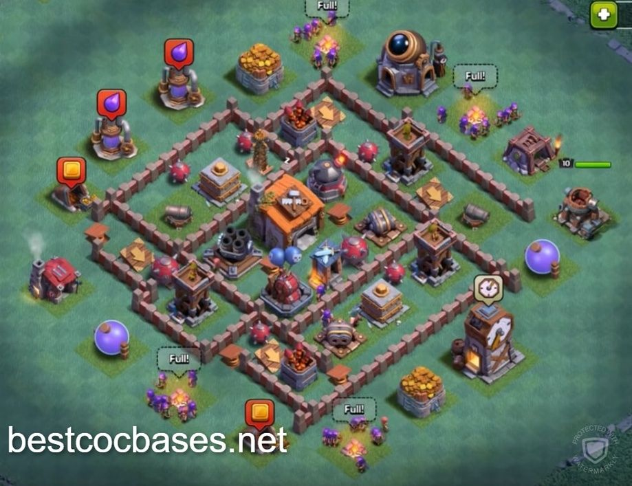 Clash Of Clans Builder Base Level 6 Layout Builder Hall