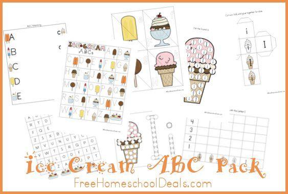 Free Ice Cream ABC Printable Pack | Pinterest