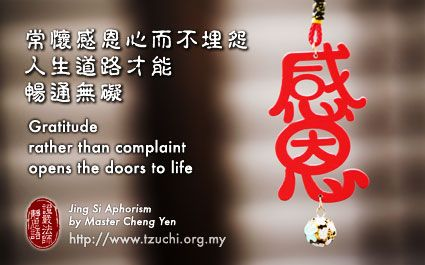 Gratitude Rather Than Complaint Opens The Doors To Life Jing