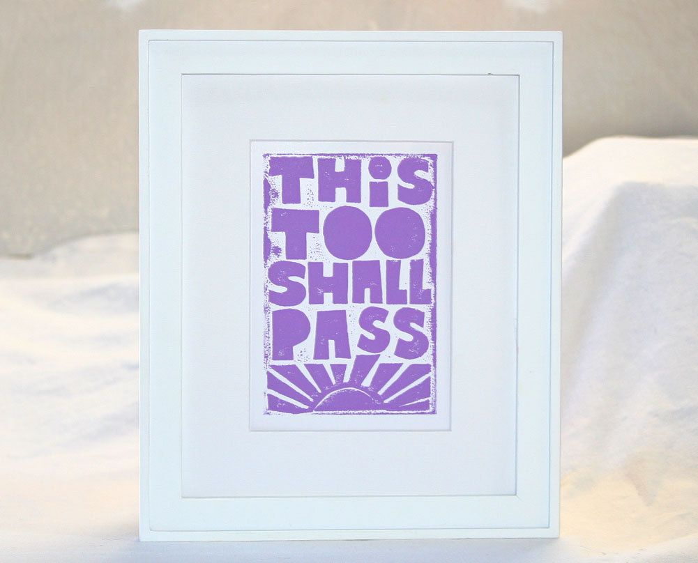 Inspirational Quotes One Day At A Time Recovery 12 Step Art Print 15 00 Via Etsy Recovery Gifts This Too Shall Pass Inspiration