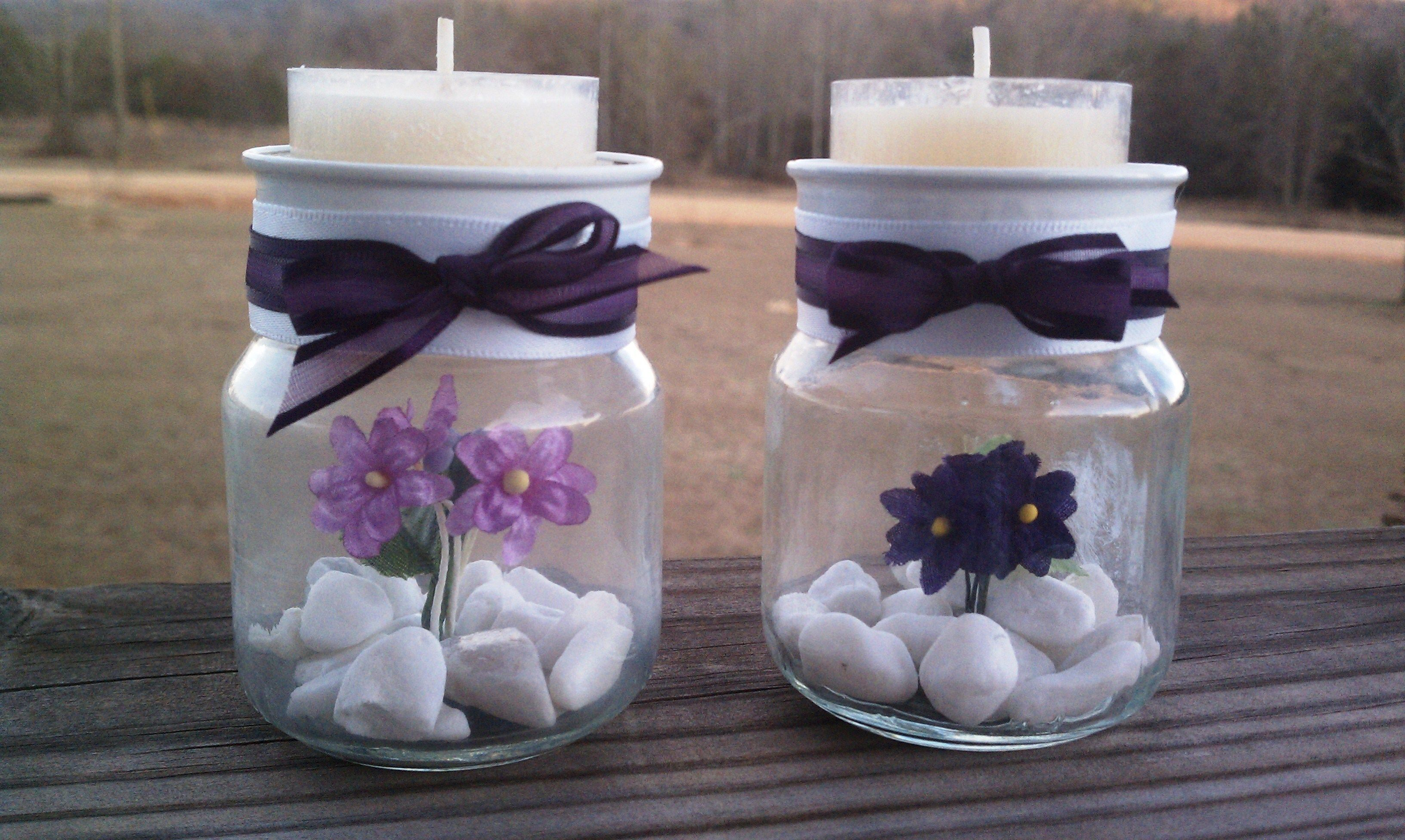 Tealight Candle Holders I Made From Baby Food Jars Not Very Complicated And Really Cute Baby Food Jar Crafts Baby Jar Candles Diy Jar Crafts