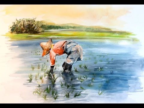 Watercolor Rice Fields Painting Demonstration Youtube Painting