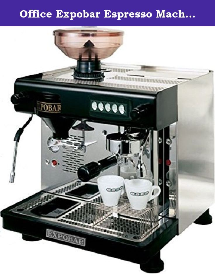 Office Expobar Espresso Machine with Bean Grinder. Compact
