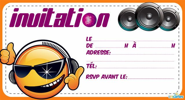 invitation anniversaire dj smiley