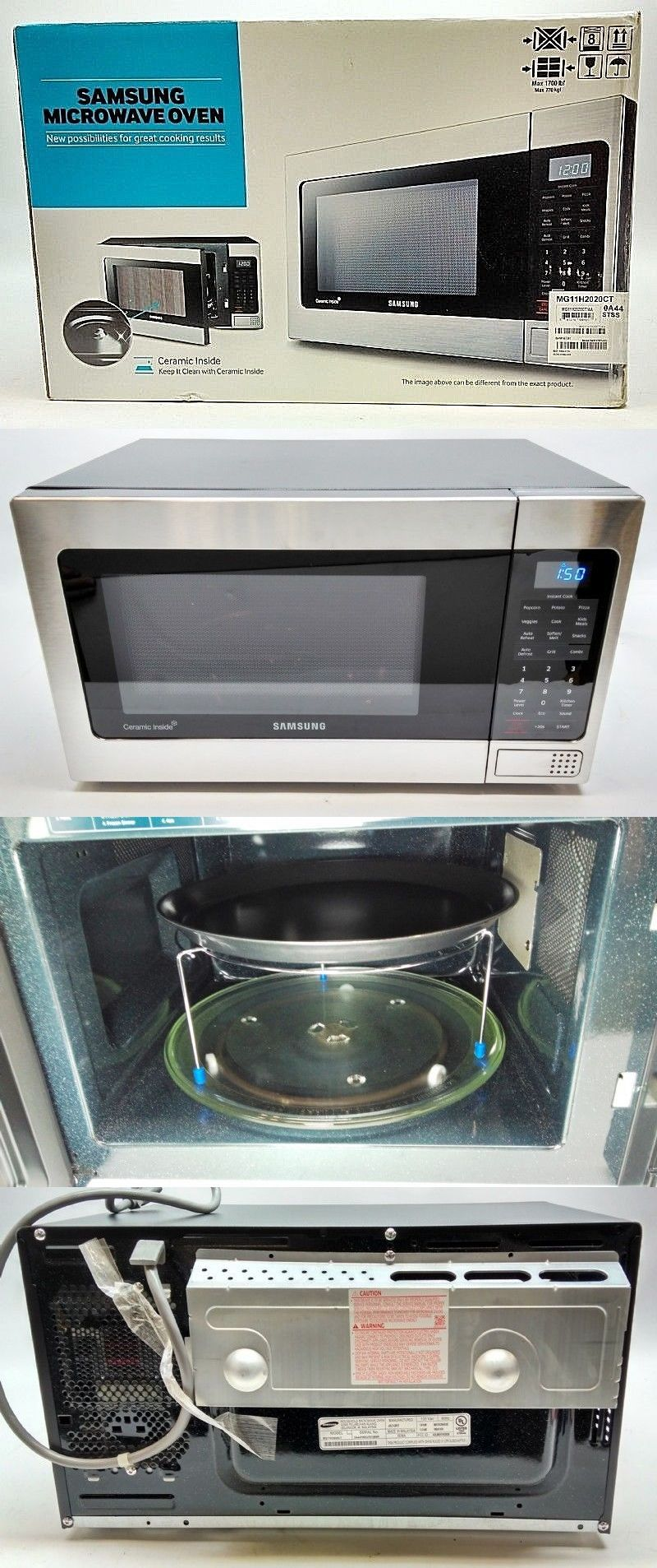 Microwave Ovens 150140 Samsung Mg11h2020ct Countertop Grill