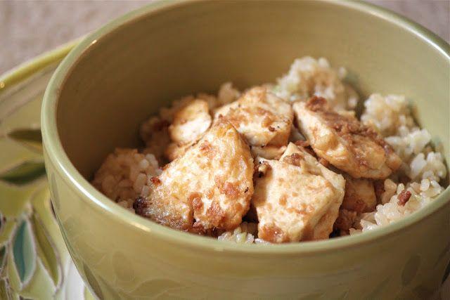 Peanut baked tofu