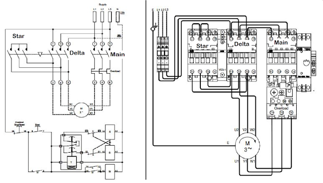 Wazipoint Engineering Science  U0026 Technology   Star Delta Starter Line Diagram And Its Working Pr