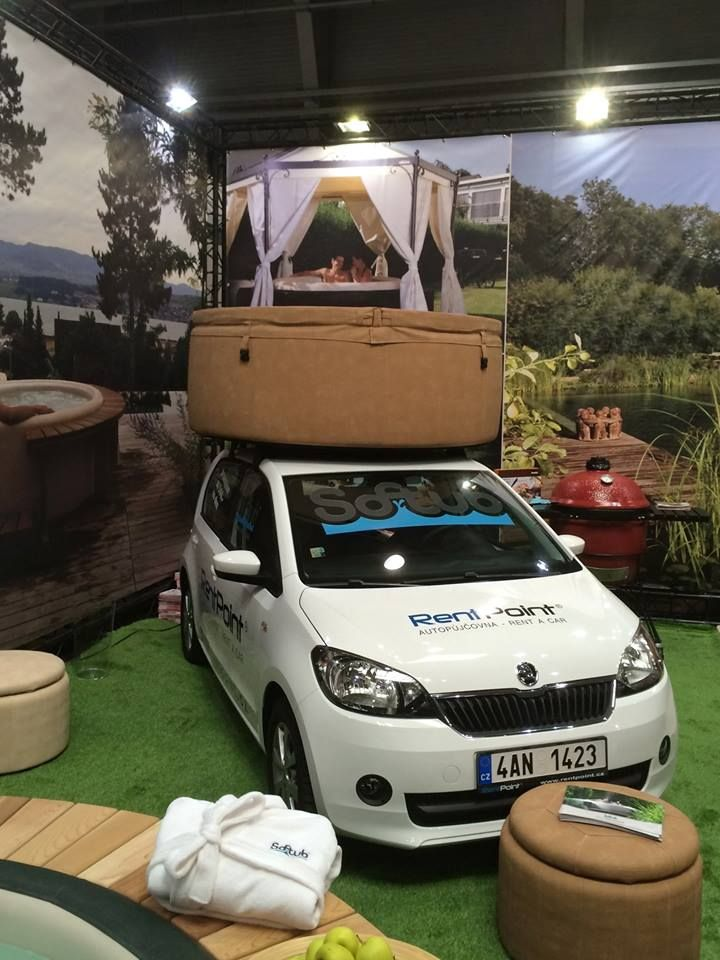 Softubs Really Are Portable With Images Portable Hot Tub Suv