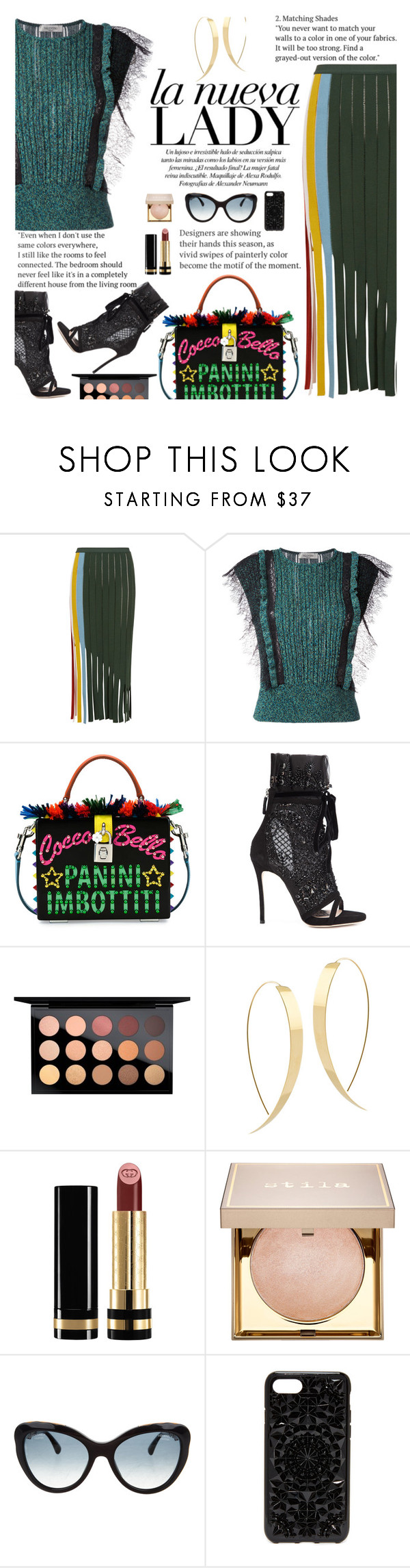 """Untitled #2294"" by anarita11 ❤ liked on Polyvore featuring Marco de Vincenzo, Valentino, Dolce&Gabbana, Dsquared2, MAC Cosmetics, Lana, Gucci, Stila, Chanel and Felony Case"