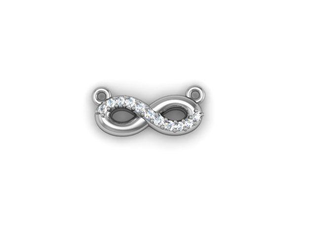 Coming soon, white gold diamond infinity pendant. $1,875