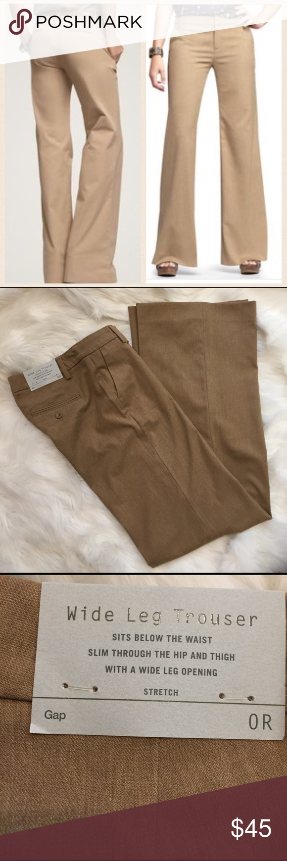 "Business Casual GAP Gap wide leg trouser. NEW!!! Across waist 14.5"". Rise 8"". Inseam 34"" GAP Pants Trousers"