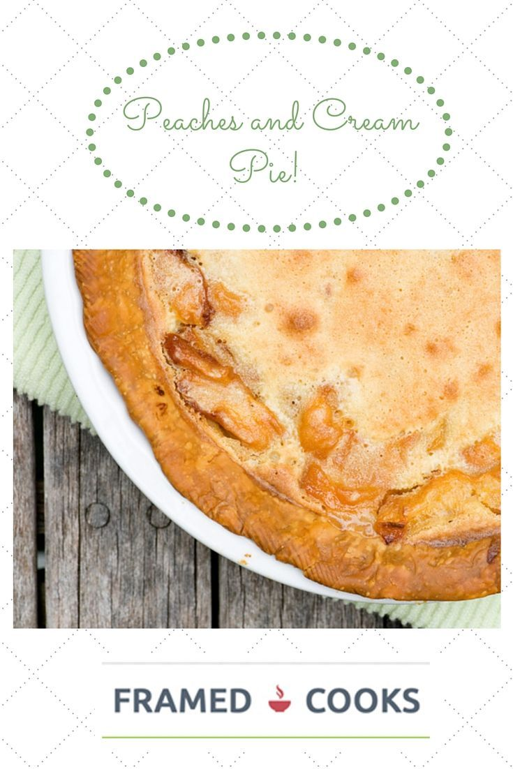 and Cream Pie Craving peach pie? Who isn't? Try this peaches and cream pie recipe for a different take on this favorite summertime dessert.Craving peach pie? Who isn't? Try this peaches and cream pie recipe for a different take on this favorite summertime dessert.