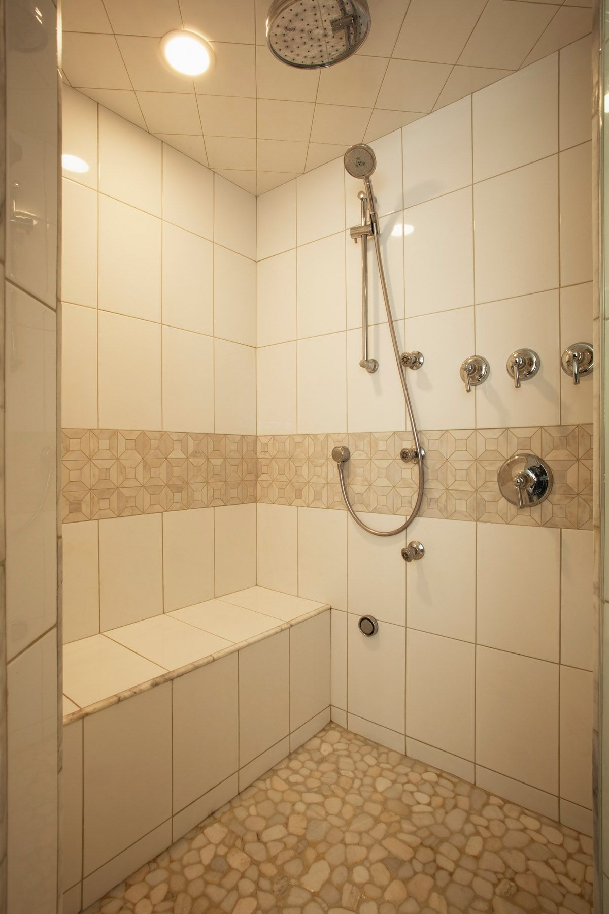 Bathroom Renovation   Steam Shower With Multi Body Jets And Rain Head