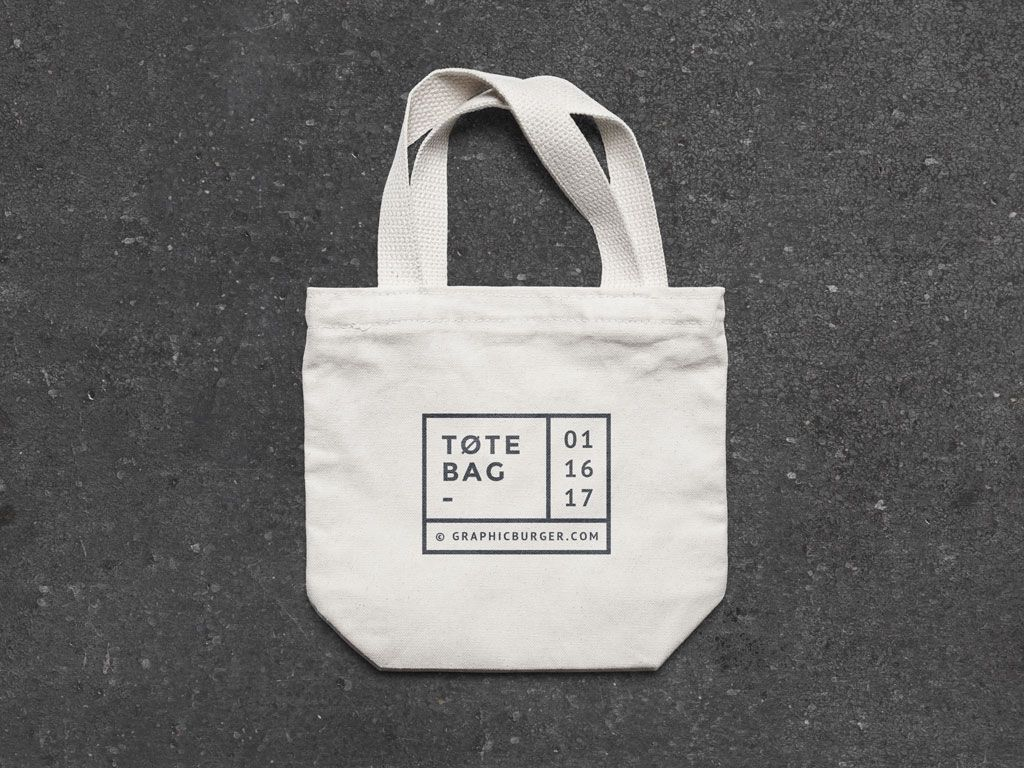 Small Canvas Tote Bag Mockup Mockupworld