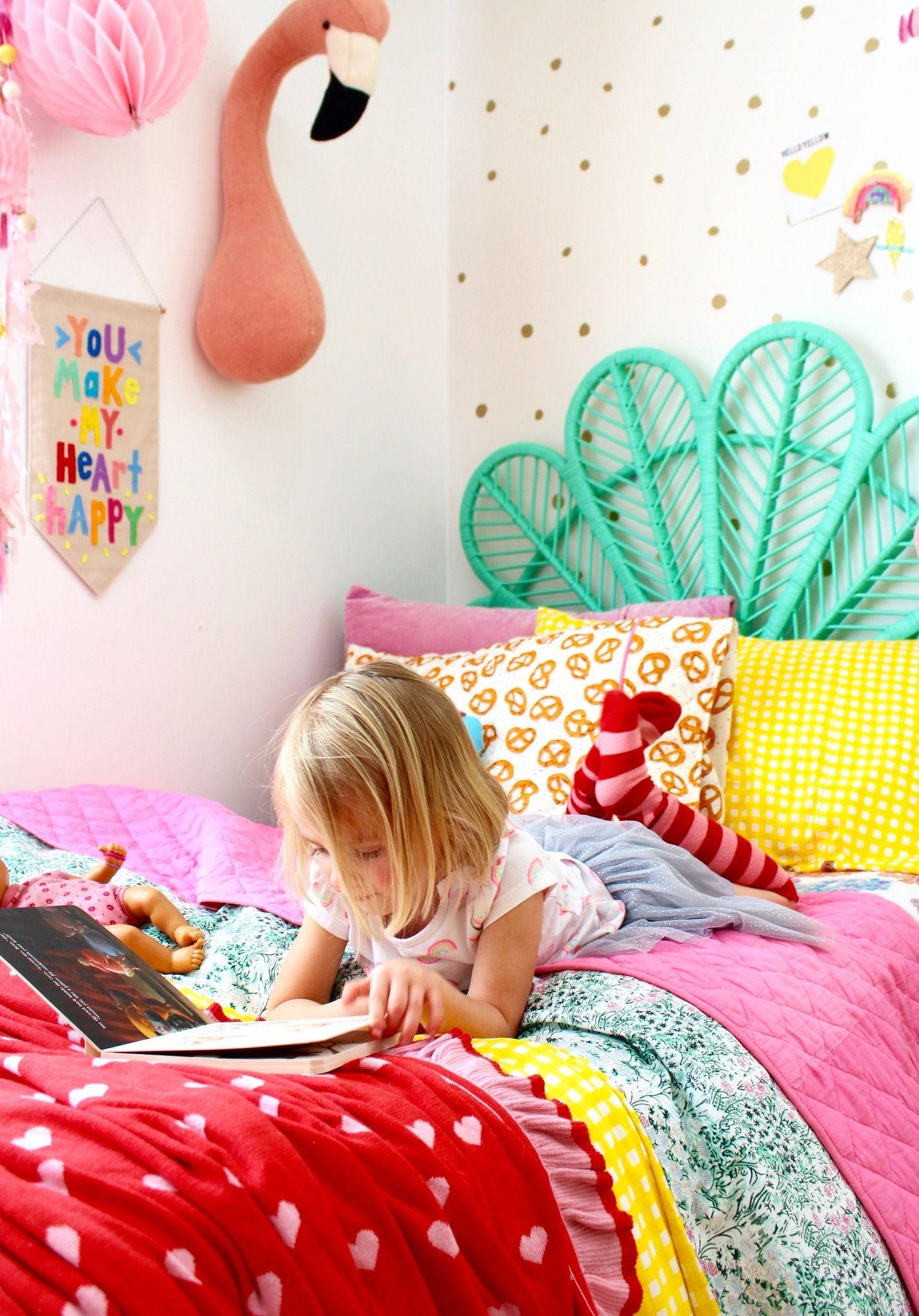 Kids Bedroom Ideas Rainbow Retreat Four Cheeky Monkeys Girls Bedroom Bright Colorful Kids Room Toddler Bedroom Girl