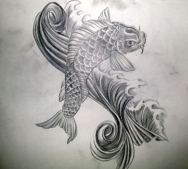 Black koi fish tattoo designs koi tattoo by for Black and white coy fish