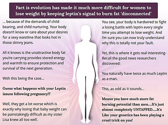 Fact Is Evolution Has Made It Much More Difficult For Women To Lose