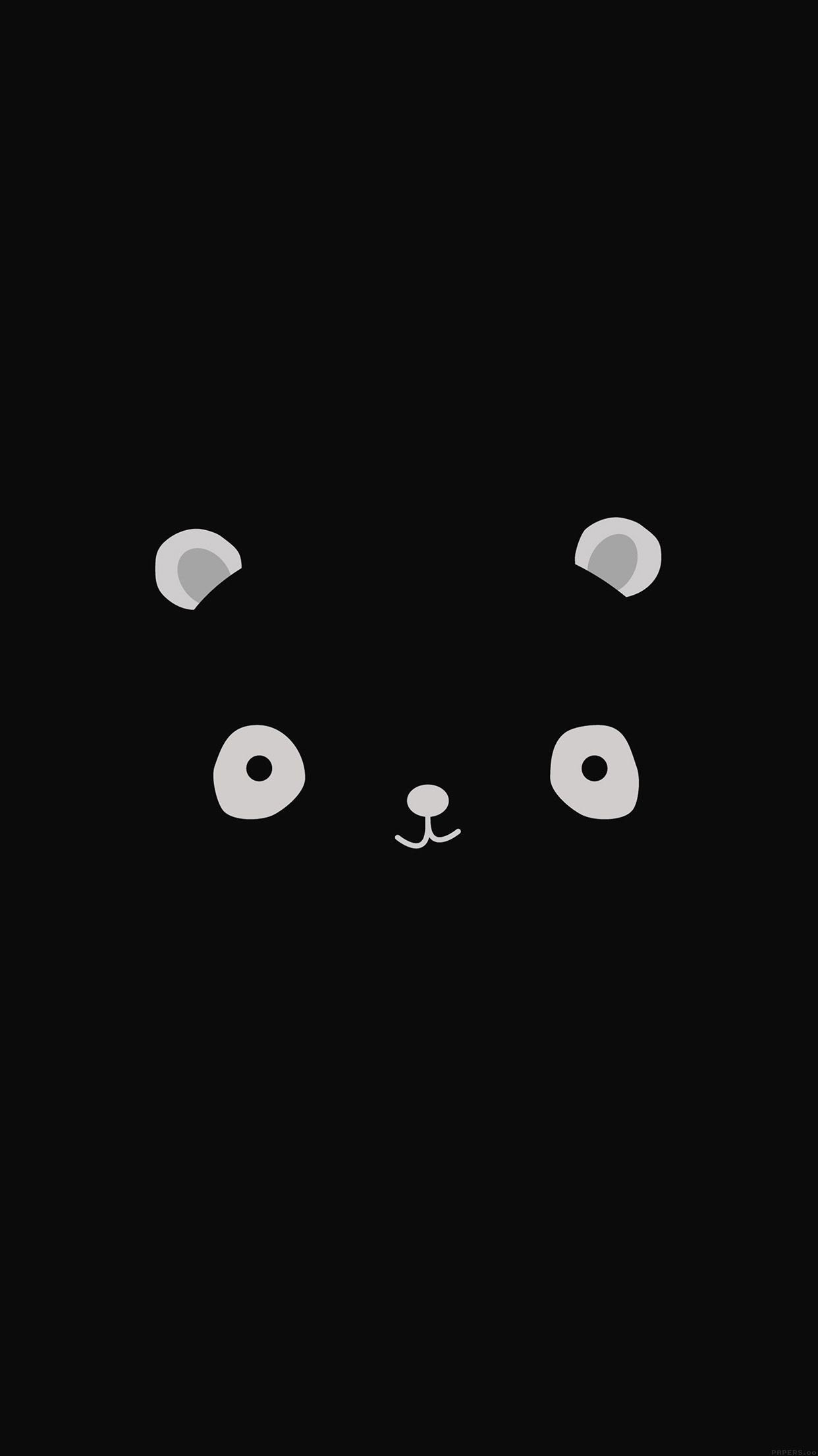 Cute Minimal Panda Dark Illust Art Iphone6 Plus Wallpaper Mobile Wallpapers Cute Black Wallpaper Wallpaper Iphone Cute Iphone Wallpaper Girly