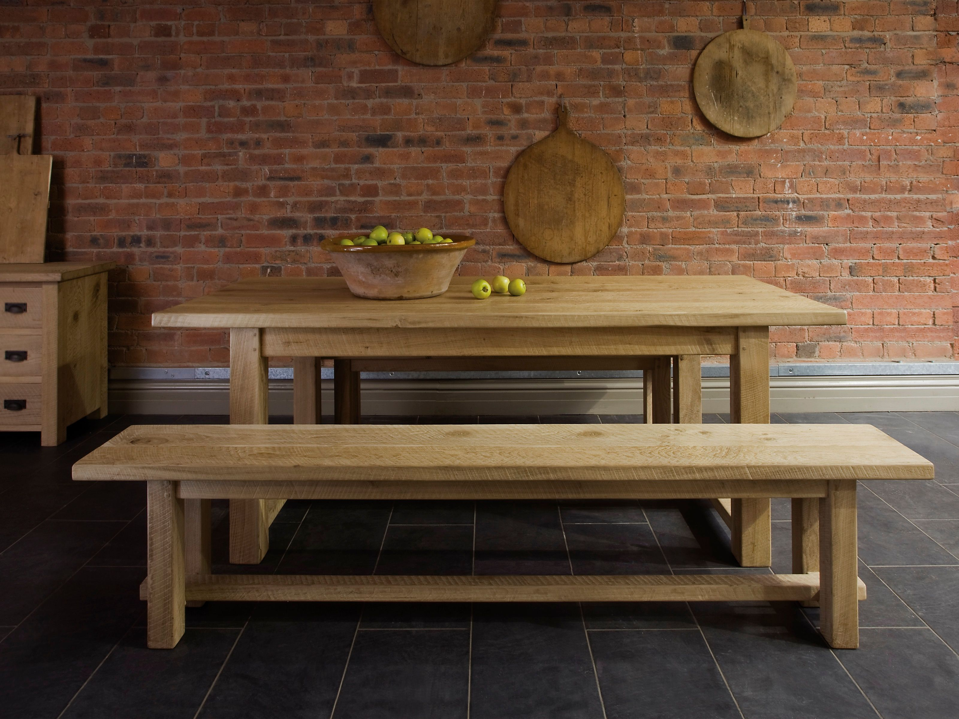 wooden kitchen table Farmhouse wooden kitchen tables for interior designs will be best suited in rustic country styles Farmhouse kitchen tables generally constructed from oak