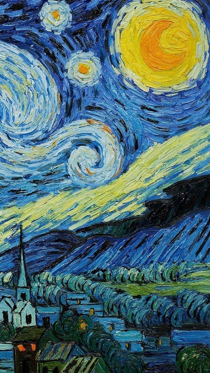 Noite Estrelada Van Gogh Vincent Van Gogh Papel De Parede De