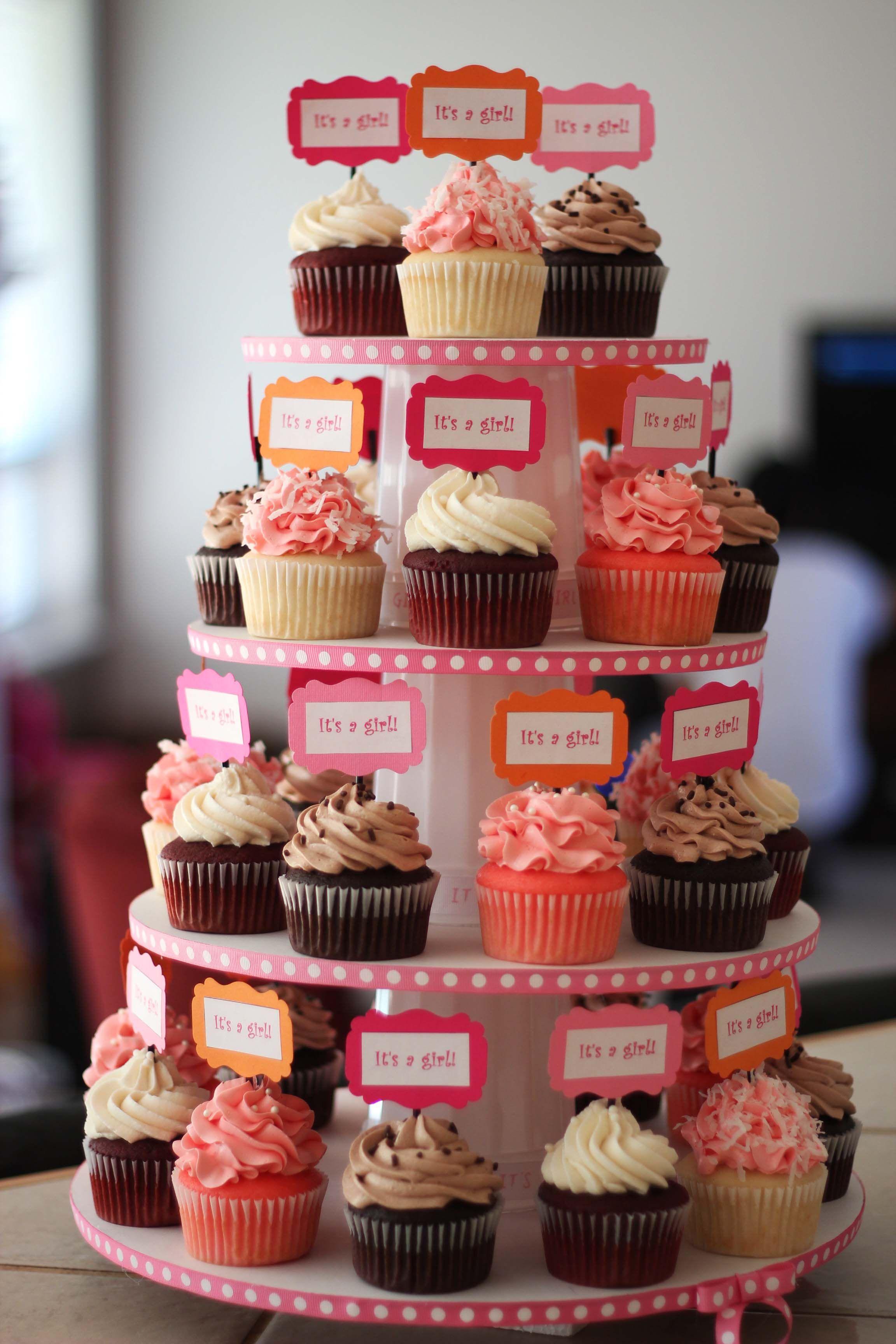 Baby Shower Cupcake Tower Ideas : Baby Shower Cupcake tower Cupcakes! Pinterest