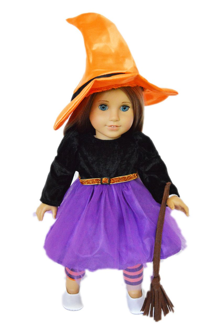 Brittanyu0027s - Purple Witch Costume for American Girl Dolls $19.99u2026  sc 1 st  Pinterest & Purple Witch Costume for American Girl Dolls | Witch costumes Girl ...