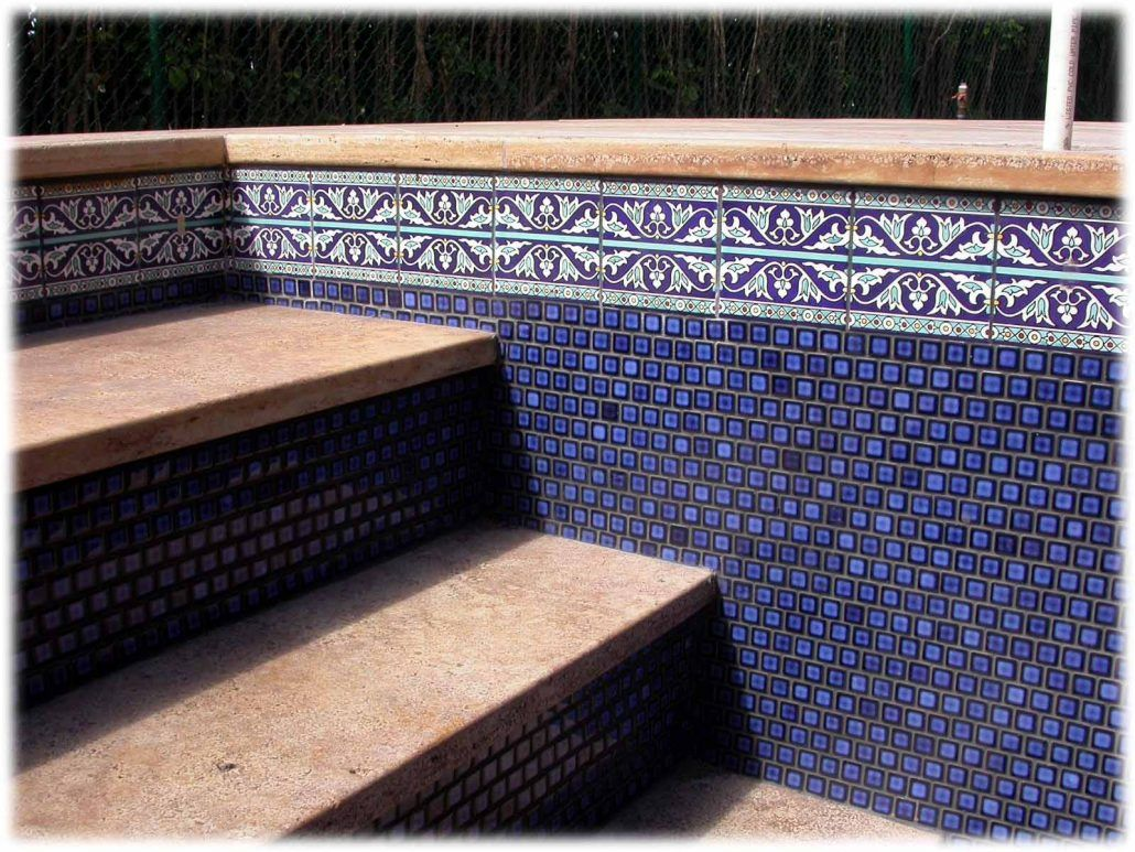 Spectacular Swimming Pool Tile Design Ideas Using Our Special Hand Painted Pool Liners And Pool Tiles We Also Pool Tile Designs Pool Tile Swimming Pool Tiles
