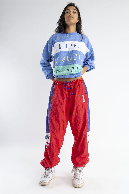 dostępny najniższa cena wyprzedaż w sklepie wyprzedażowym Red, white, purple Hummel track pants / Vintage 90s Hummel ...
