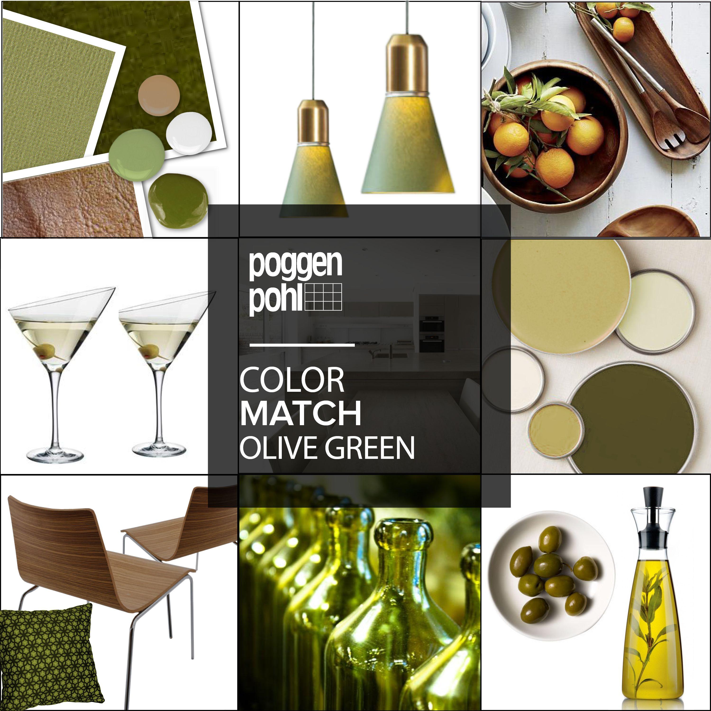 Olive Green Kitchen Decor: Colour Match #olive #green #kitchen #poggenpohl