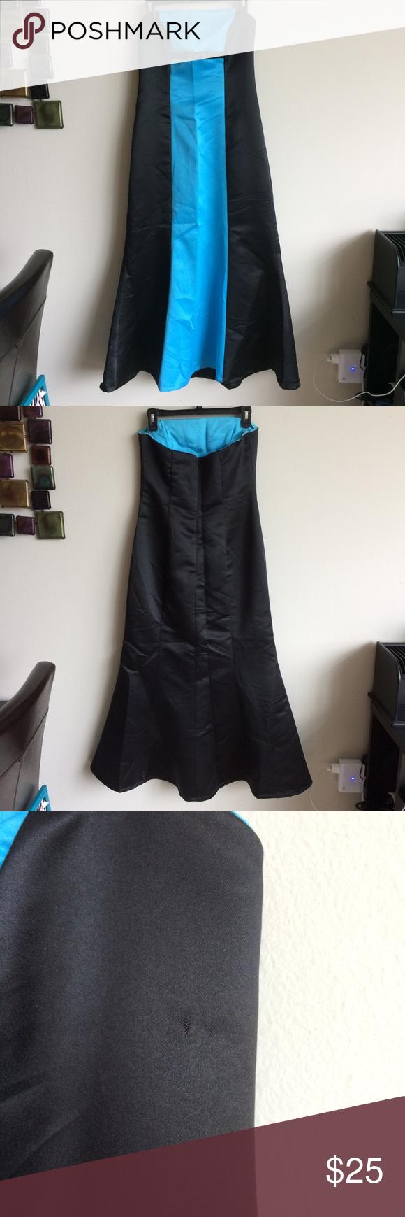 Blue and black formal dress size