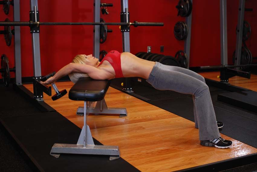 Dumbbell Pullovers - great for the lower chest, triceps, lats, and ...