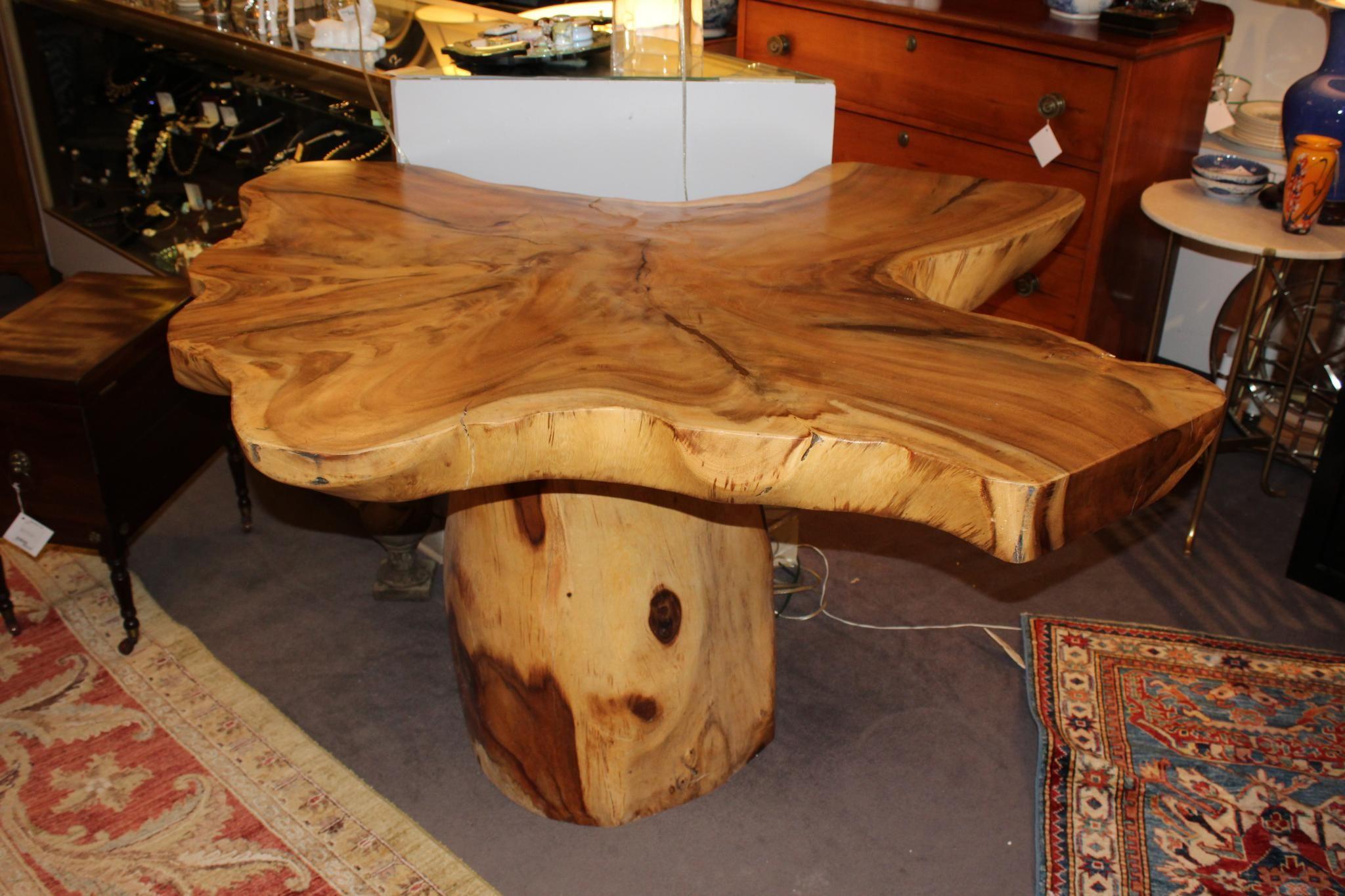 Unique teak center table. solid wood