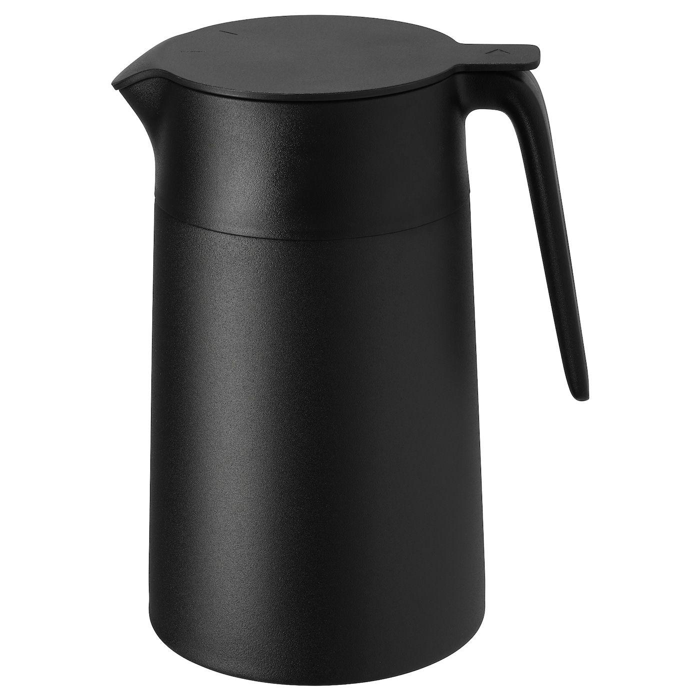 Underlatta Isolierkanne Schwarz Ikea Osterreich In 2020 Vacuum Flask Glass Spice Jars Ikea