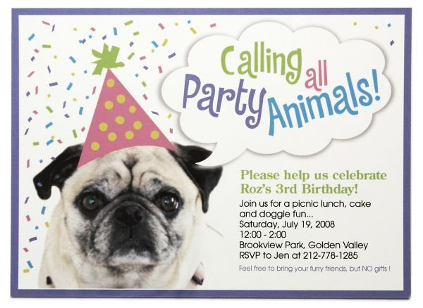 Dog Birthday Invitations Ideas For James Free Printable Templates Personalized
