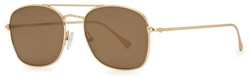 a2ba6bb52 Luca gold tone mirrored sunglasses | Products | Sunglasses, Mirrored ...