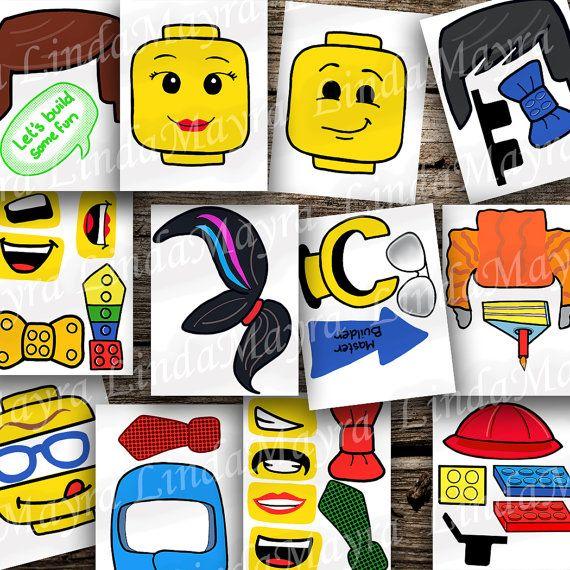Inspirado en LEGO descarga digital de bricolaje foto stand