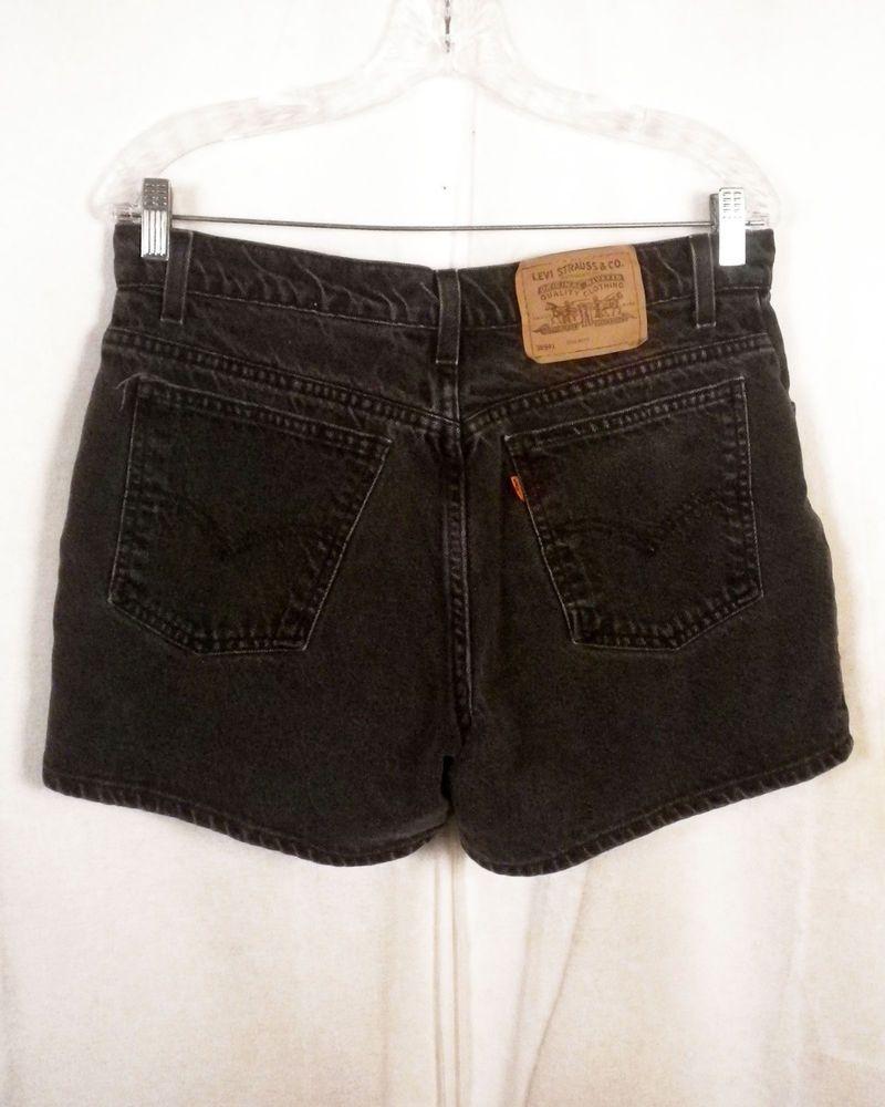 8d435f2c vtg 80s Levis 941 black Orange Tab Denim Jean Shorts regular fit 12 ...