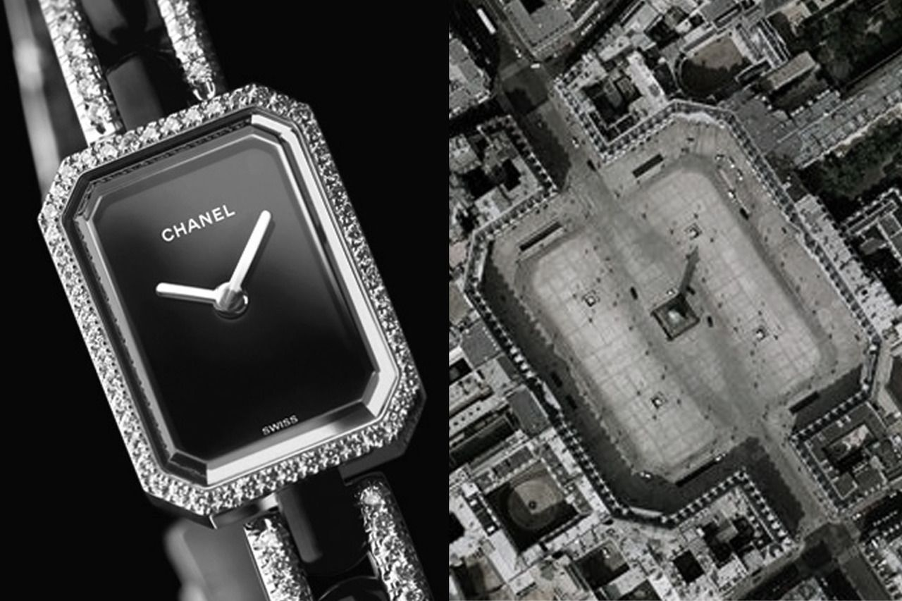 Fact: the shape of the Chanel clock is inspired by Place de LaVendôme in Paris where Coco lived. I had to do this! #fashion #inspiration #playful #photography