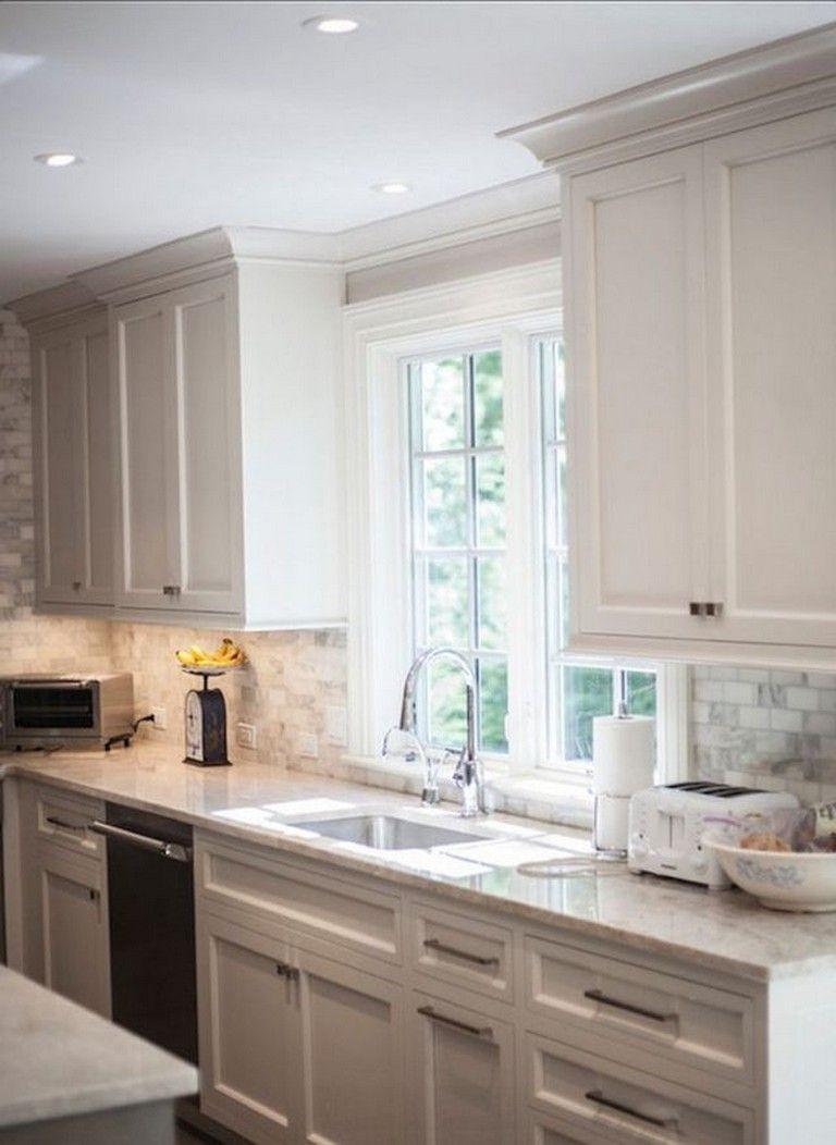 amazing white cabinet kitchen islands | 28 Amazing Kitchen Backsplash with White Cabinets Ideas ...