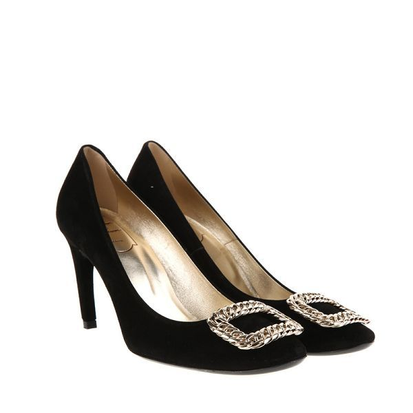 PUMP Suede Black High Heels ROGER071 CHRISTMAS Roger Vivier Famous-Brand  Undoubtedly Selection Sexy and