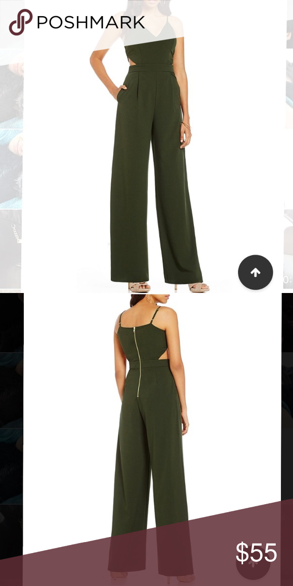 7af60cb9bebd Gianni Bini olive green jumpsuit Worn once. Too long for me. Cutouts on  sides. Gianni Bini Other