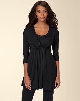 Soma Intimates Soft Jersey Wrapped Waist Tunic Black #somaintimates My Soma Wish list sweeps